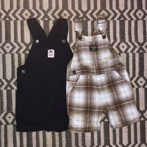 Carter's Bottoms - Toddler overalls plaid and navy carters/osh kosh